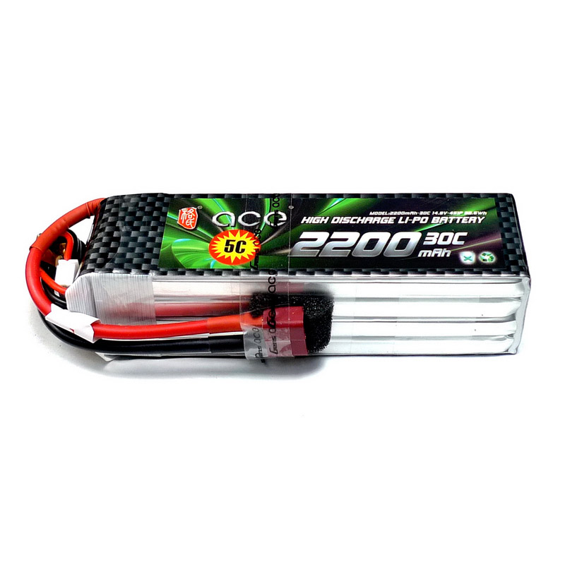 Lipo Li-poly Lithium-Polymer ACE Power 11.1v 2200mah 30C 3S Battery 3S BatterieS RC DRONE Low shipping