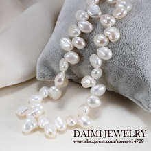 High Quality Baroque Pearl Necklace White Color Fashion  Necklace Pearl Jewelry(China (Mainland))