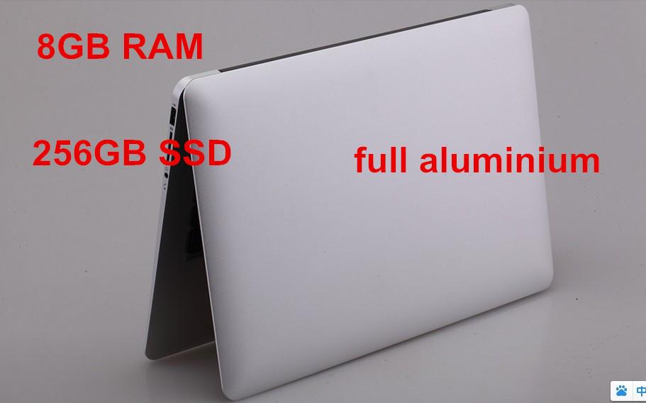 "13.3"" ultrabook notebook computer aluminium laptop PC 8GB RAM 256GB SSD alluminated backlit keyboard 1920*1080 HD screen 2957U(China (Mainland))"