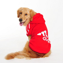Buy Plus Size Large Dog Clothes Autumn/Winter Warm Soft Dog Coat Jacket Big Dog Clothing Sprots Hoodie Golden Retriever XL-9XL for $4.57 in AliExpress store