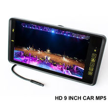 TFT LCD 800x480 720P 9 Inch Car FM Mp4 MP5 Video Player Auto Parking Monitor Support Rear Camera SD USB Flash Built in Speaker(China (Mainland))