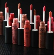 Hot sale 6pcs/lot High Quality Soft Matte Dull Liquid Lipstick Vintage Long Lasting Lip Gloss(China (Mainland))