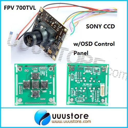 Гаджет  FPV 700TVL Sony Super HAD II CCD WDR Board Camera+OSD Control Panel+3.6mm lens None Безопасность и защита