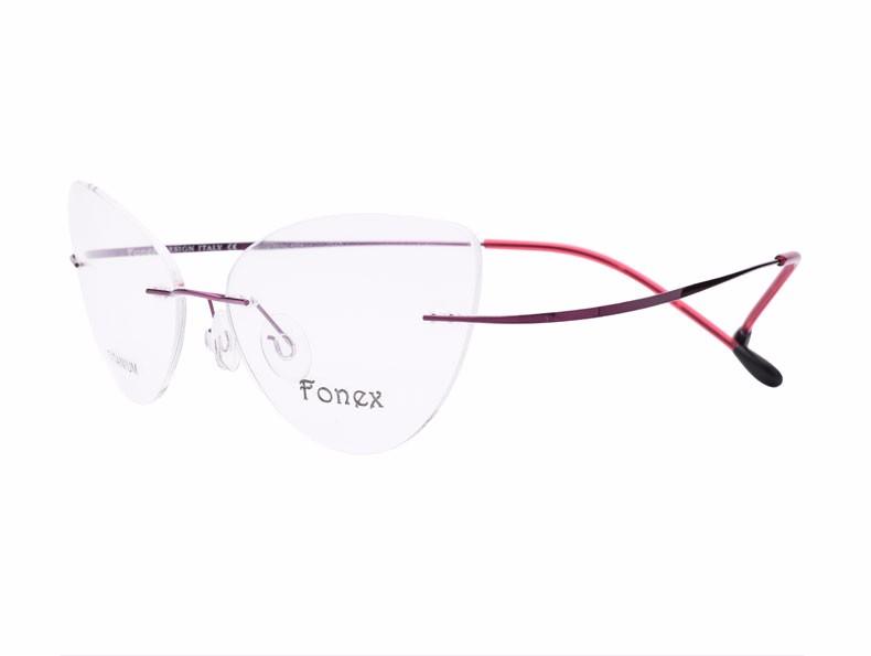 rimless women cat eye glasses silhouette fashion eyewear eyeglasses (13)