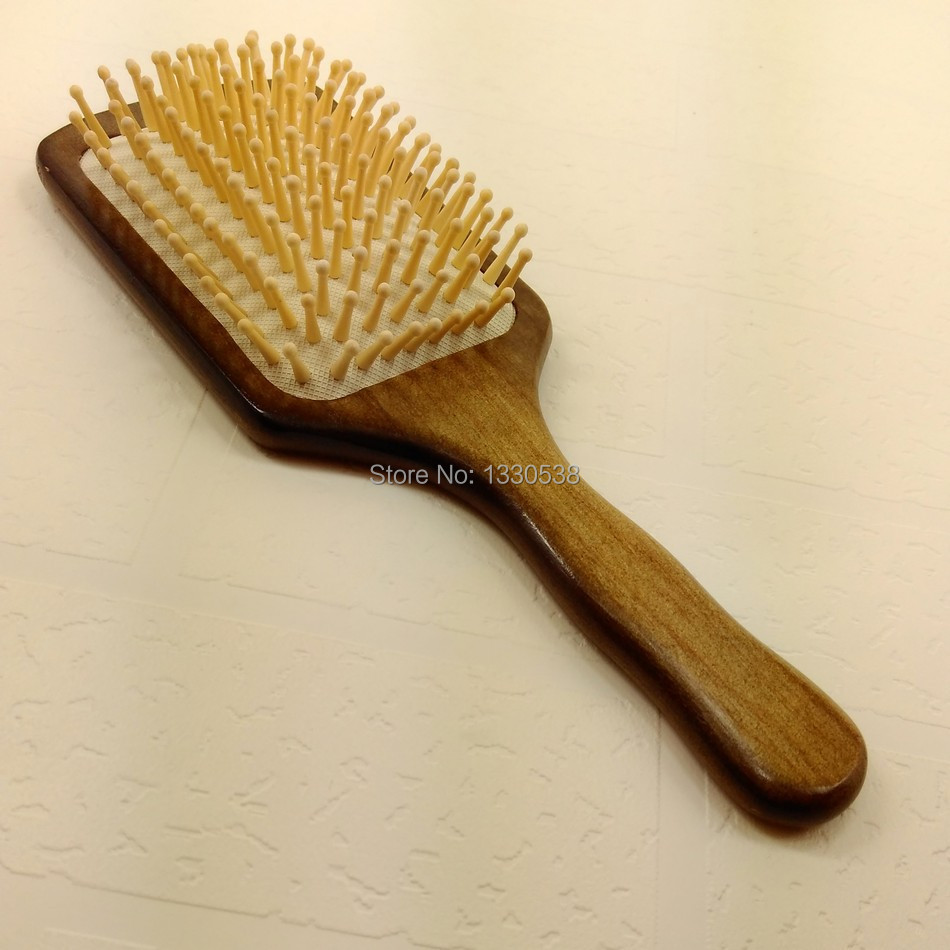 Most popular hair brush hairbrush Paddle Brush wooden Comb makeup tangle styling tools free shipping 21M(China (Mainland))