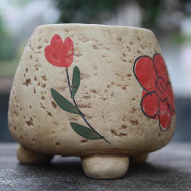 100%handmade nursery pots ceramic garden pots garden supplies planter(China (Mainland))
