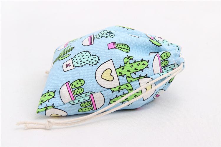 2016 Christmas Candy Bag Fashion Cotton&linen Storage Bags for Travel Tea bag Makeup Women Drawstring Bag Cute Candy Pocket