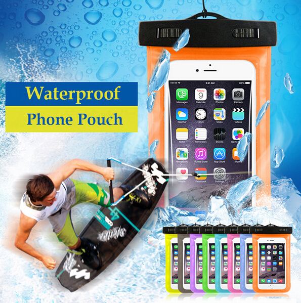 For 3-6.5inch Waterproof Pouch Case for iPhone Cool Style PVC Waterproof Bag for Mobile Phone Clear Water Resistant Phone Pouch(China (Mainland))