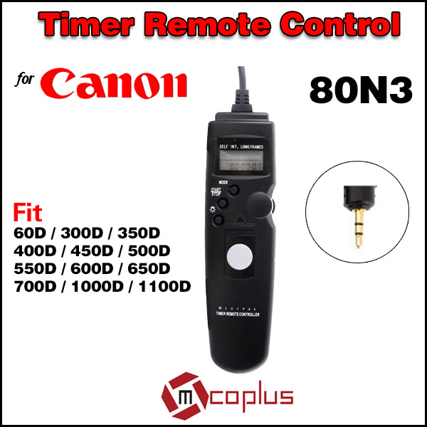 80N3 C1 LCD Digital Camera Timer Remote Control Shutter Release for Canon EOS 60D 550D 600D 650D 1100D 450D 700D 500D 350D 300D(China (Mainland))
