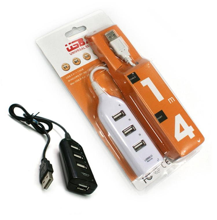 Mini USB High Speed 4-Port 4 Port USB HUB Sharing Switch For Laptop PC Notebook Computer, Black/White(China (Mainland))