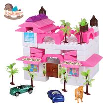 Arshiner Baby Blocks Toys Kid Plastic Building Block Set Preschool Children Playing Assemblage Pink, White - Store store