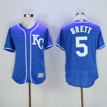 Men's KANSAS CITY ROYALS George Brett BO JACKSON Jarrod Dyson Eduardo Escobar Jersey(China (Mainland))