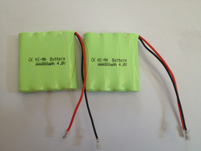 2PACK/LOT Brand New AAA 4.8V 800mAh NI-MH Rechargable Battery Batteries Pack Free Shipping(China (Mainland))