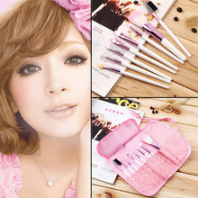 Buy Make Hot Sale! 8 Pcs Professional Pink Makeup Brushes Set Tool Make Tools case Cosmetic Brush kabuki brush set for $2.88 in AliExpress store