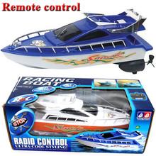 Potente doppio motore radio remote control rc barche racing speed giocattoli elettrici modello di nave regalo dei bambini rc barche nave DZ-001(China (Mainland))
