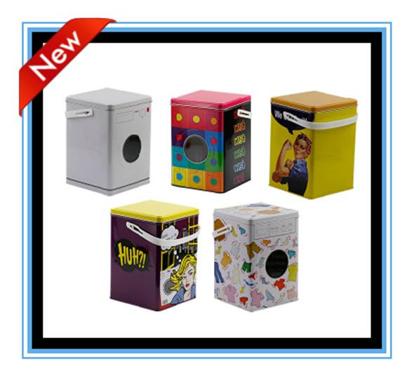 Factory Wholesale 1pc/set modern big L white metal Storage Can Case/washing machine Box/sundry box/Wedding gift/Party favor(China (Mainland))