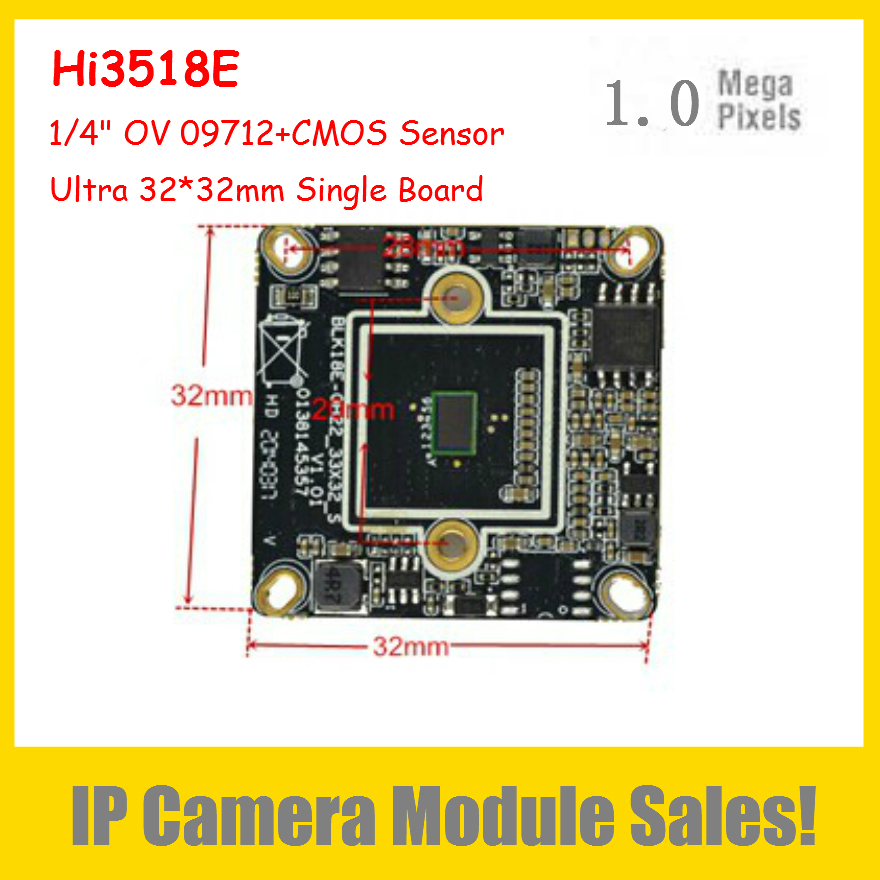 "2015 1.0Megapixel 32*32mm Ultra Size IP Camera Module Hi3518E DSP+1/4"" OV 09712+CMOS Sensor Support P2P Onvif Smartphone Review(China (Mainland))"