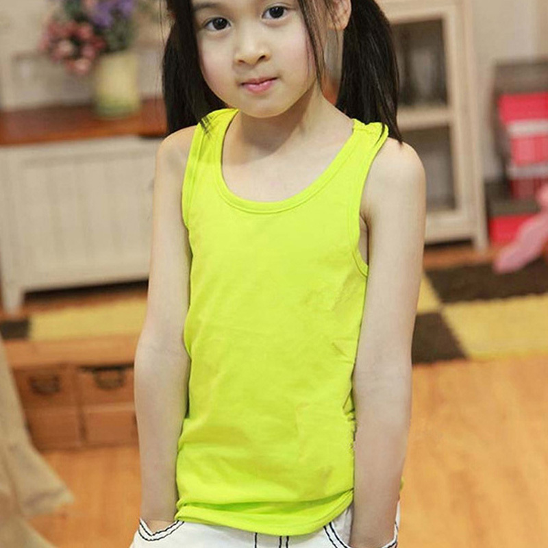Summer Baby Kids Girl Boy Casual Modal Plain vest Tank Tee Tops new(China (Mainland))