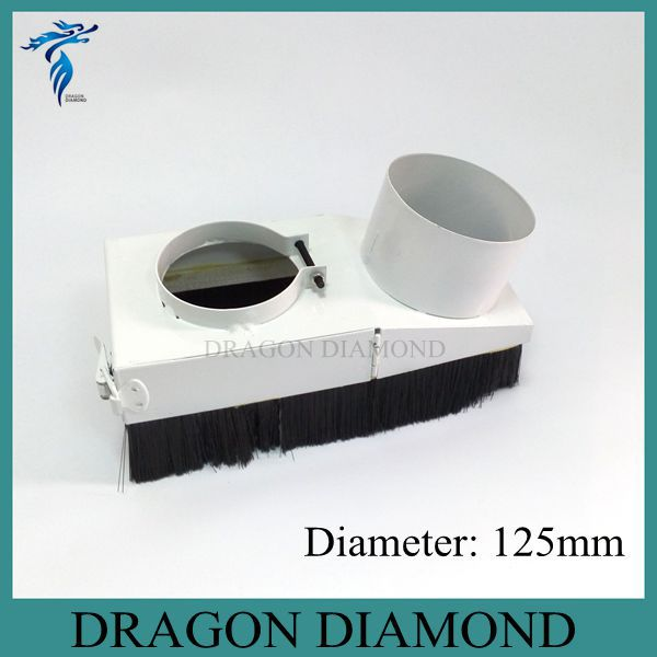 CNC Router Accessories Dust collector Cover cnc spindle motor dust collector device D125mm(China (Mainland))