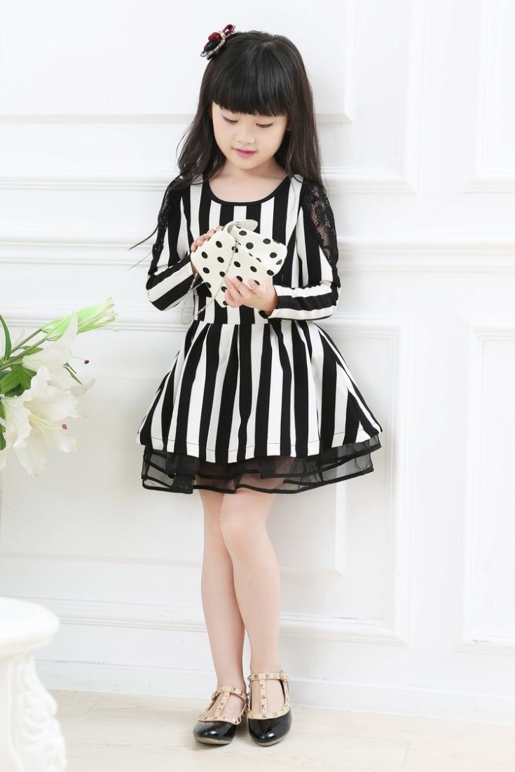 Black And White Girls Dresses - Cocktail Dresses 2016