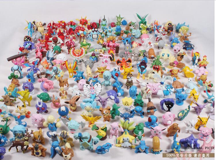 Free Shipping 240pcs/lot Pokemon Action Figures 2-3Cm Random distribution(China (Mainland))