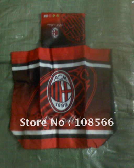 acmilan fc  foldable street shopping bag / fashionable  travel storage bag
