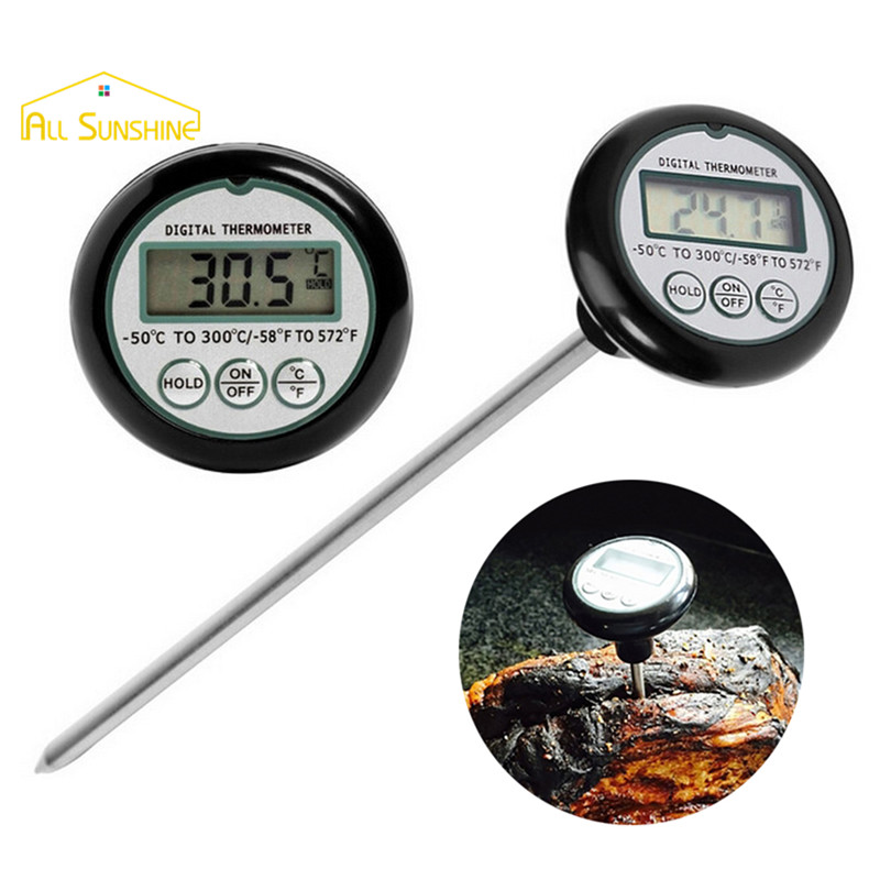 Digital Oven Thermometer Pen Style Kitchen Food Cooking Grilling Meat BBQ Thermometer Water Milk Wine Liquid Temperature Probe(China (Mainland))