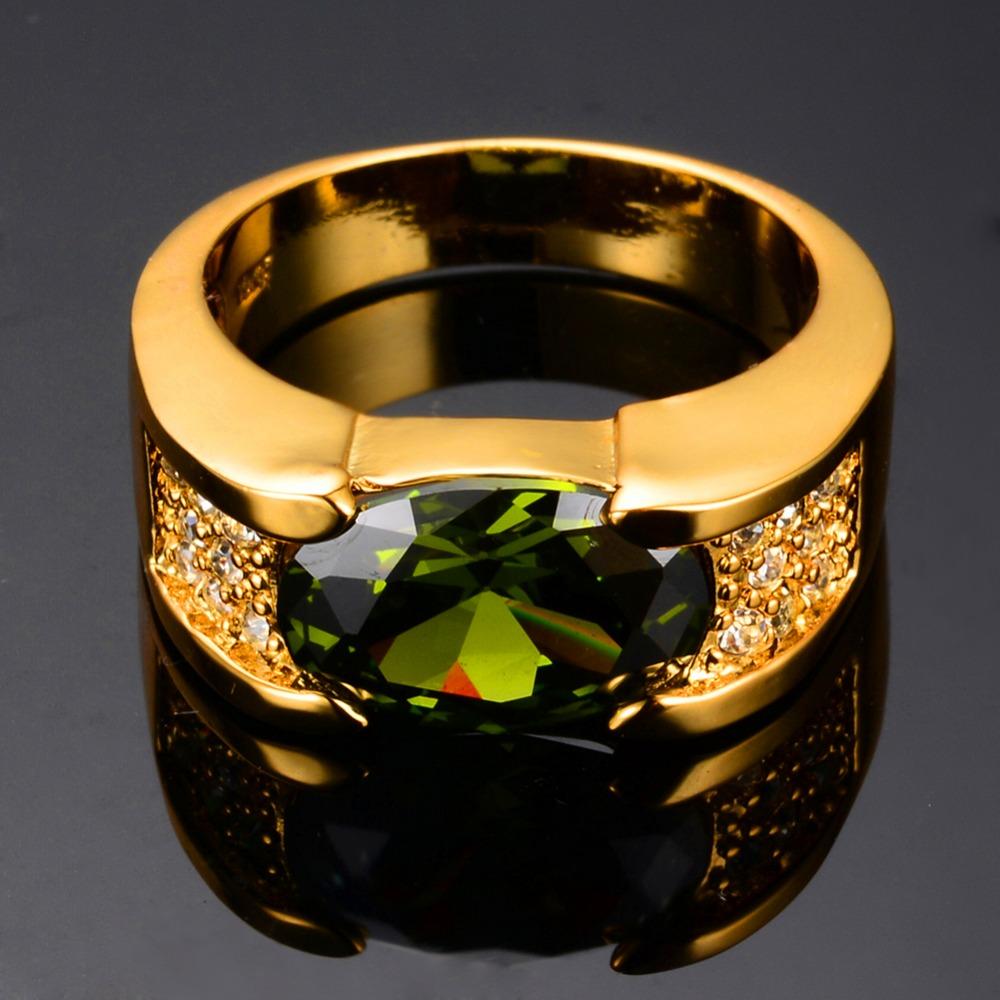 Online Get Cheap Mens Peridot Ring Aliexpress Com