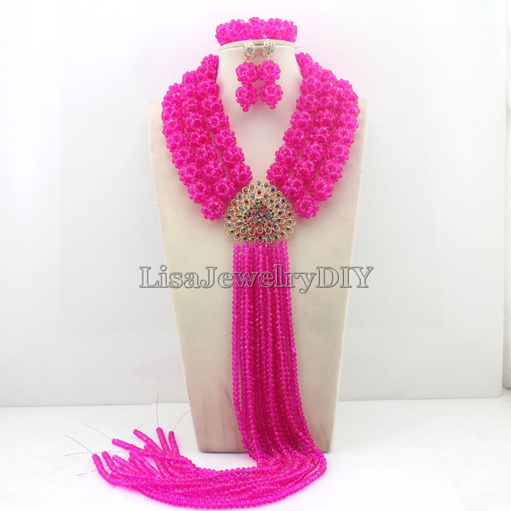 Charming African Beads Jewelry Sets Nigerian Wedding Bridal Beads Necklace Earrings Jewelry Sets HD4667<br><br>Aliexpress
