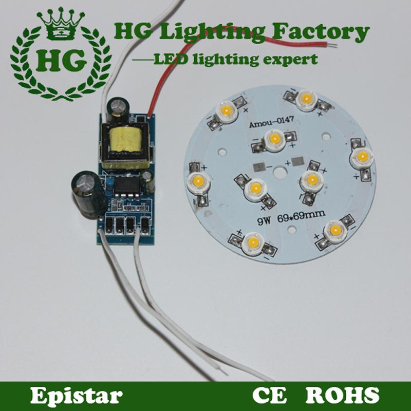 Гаджет  1w 3w 5w 7w 9w 12w 15W 18W 21W  LED  Star high power  led chip + Input AC 100-240v led power supply driver  None Свет и освещение