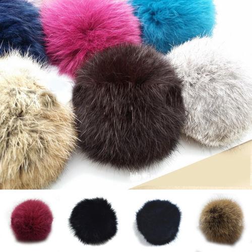 Lovely Women Rabbit Fur Ball DIY Key Chain/Headwear/Cellphone Keyrings Pendant(China (Mainland))