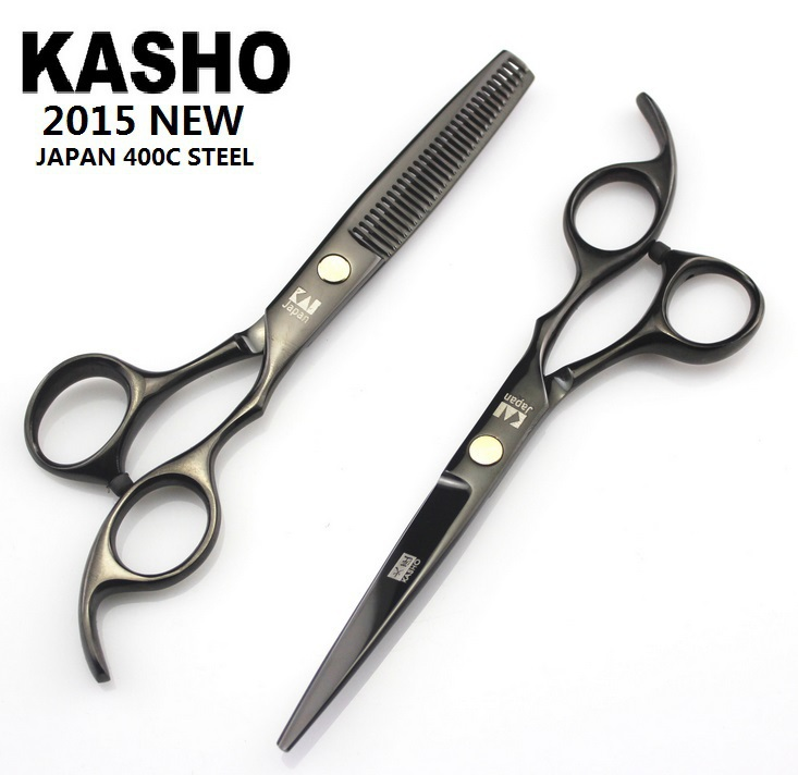 Japan Kasho 6 inch profissional hair scissors hairdressing barber tijeras hair cutting scissors shears set thinning high quality