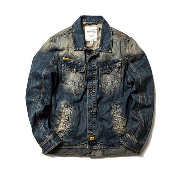 2016 men autumn new arrival mens denim jacket 100%cotton casual mens jackets and coats men clothing