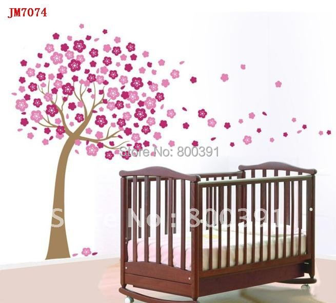 Lovely Tree Wall Sticker Baby Room Kids decals home decoration SIZE 60*90cm, Flower Art, ! - EMILYGU KIDS FASHION STORE store
