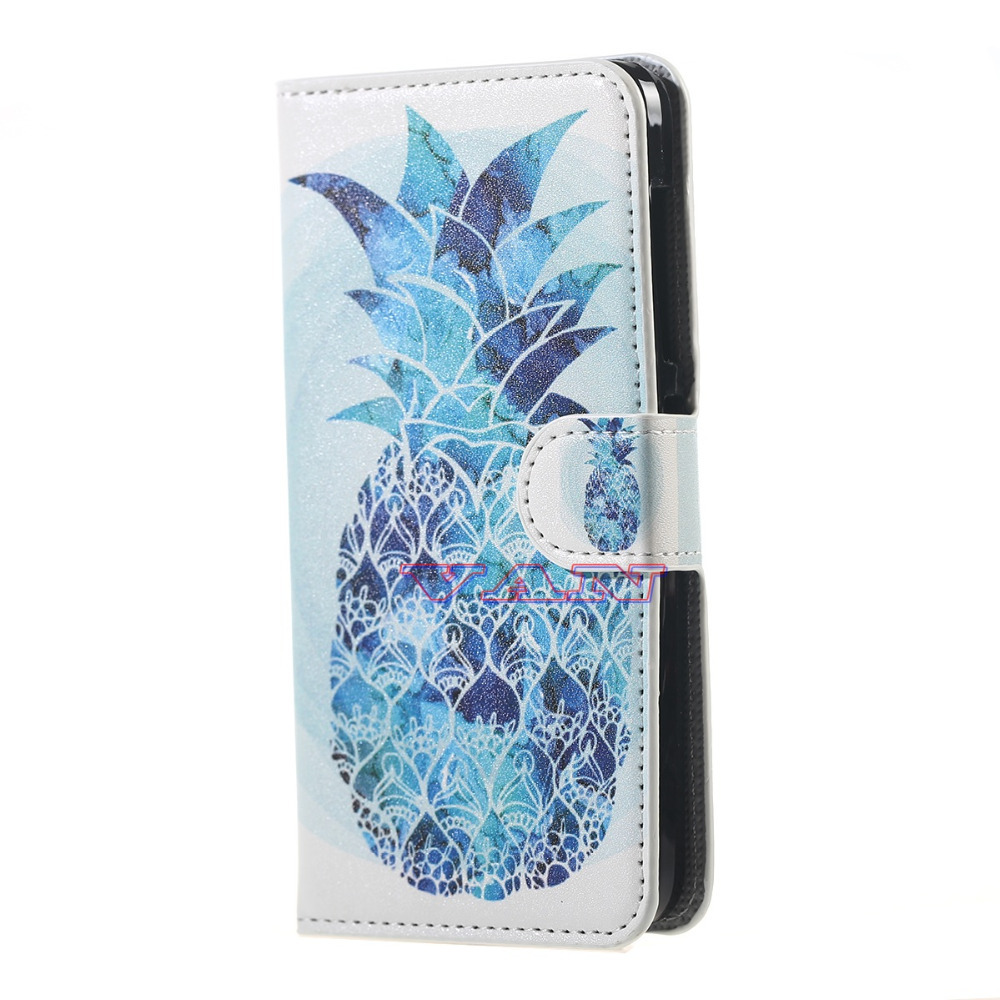 blue pineapple luxury protector leather case for Acer Liquid Z520 android phone cases for Acer Liquid Z520 case battery cover(China (Mainland))