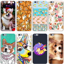 Buy cute Corgi dog Hard Transparent Cover Case iPhone 7 7 Plus 6 6S Plus 5 5S SE 5C 4 4S for $1.23 in AliExpress store