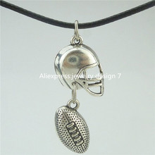 Buy Free 16581 American Football Sports Ball Rugby Helmet Pendant Collar Short Necklace 16532 for $1.49 in AliExpress store