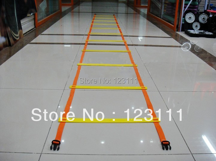 16.4ft,12rungs Soccer Football Running Speed Agility Training Ladder/Aids/Workoutz Equipment(w/ carry bag,buckle connected end)(China (Mainland))