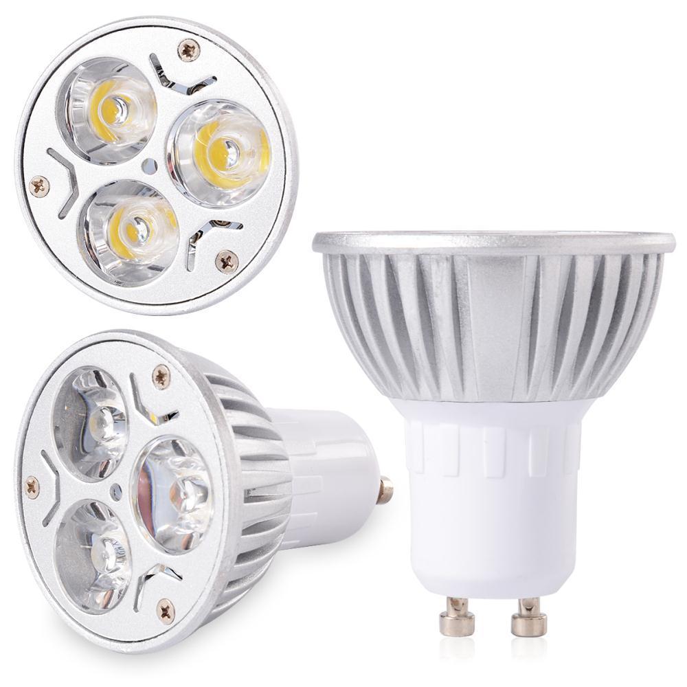 6pcs 10pcs 3W LED Charming Spotlight GU10 3X SMD Spot Down Light Lamp Bulb Warm White 270LM Silver Shell LD278A(China (Mainland))