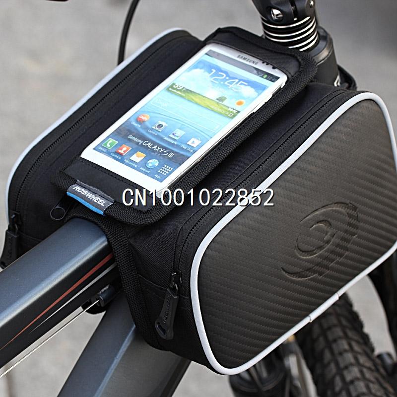 Waterproof 1.8L Cycling Bike Bicycle Front Frame Bag Tube Pannier Double Pouch for 5in Cellphone(China (Mainland))