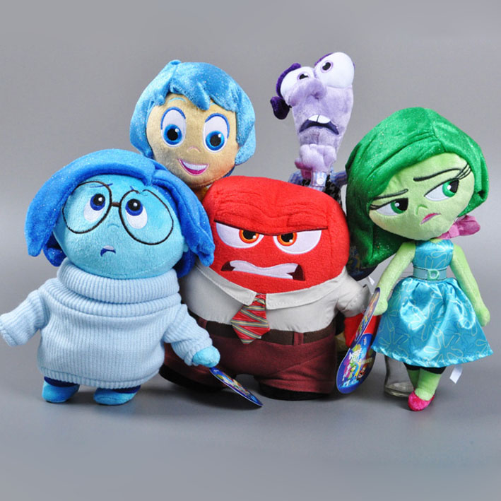 5pcs/lot 2016 Hot Inside Out Stuffed Doll Joy Anger Sadness Disgust And Fear Soft Plush toy Baby Kids Toys Christmas Gifts For