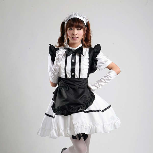 free shipping new high quality masquerade women girl anime maid cosplay Lolita dresses stage performance halloween costumes(China (Mainland))