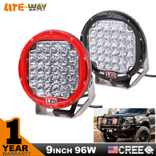 96w 9inch red round cree led driving light