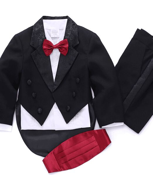 Boys Wedding suits Groom Tuxedos Suit Formal Party Tuxedo suit Jacket+Pants+bow tie+Vest+shirts Dress Suit 5 pcs set #3458 книги издательство аст великие сказки мира