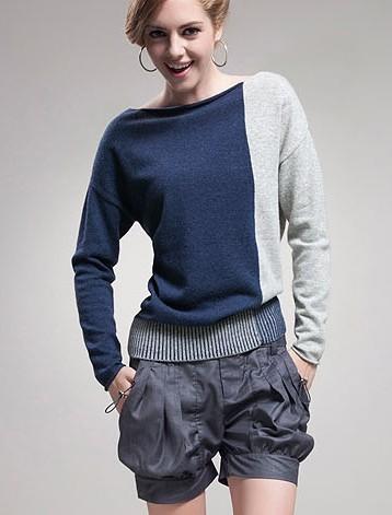 2014 Genuine Autumn Cashmere sweater female bat sweater bottoming shirt ladies wool coat Korean version was thin