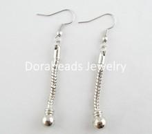 8PCs Silver Tone drop earrings Fit European Charm 58mm(with Hook) (B03307)8seasons(China (Mainland))