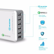 Buy TeckNet Qualcomm Certified 51W 6 Ports quick charger QC 2.0 Desktop USB Charging Station Wall Charger For Apple iPhone, iPad for $24.00 in AliExpress store