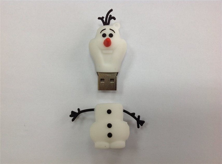 100% real capacity Cute snowman U disk usb flash drive 16gb pendrive pen driver 8gb usb 2.0 usb flash driver flash memory stick(China (Mainland))