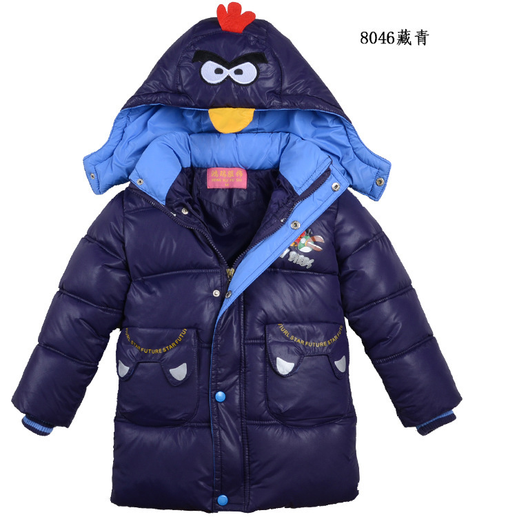 8046 children manufacturers selling down cotton-padded jacket coat birdie children down cotton-padded jacket coat(China (Mainland))