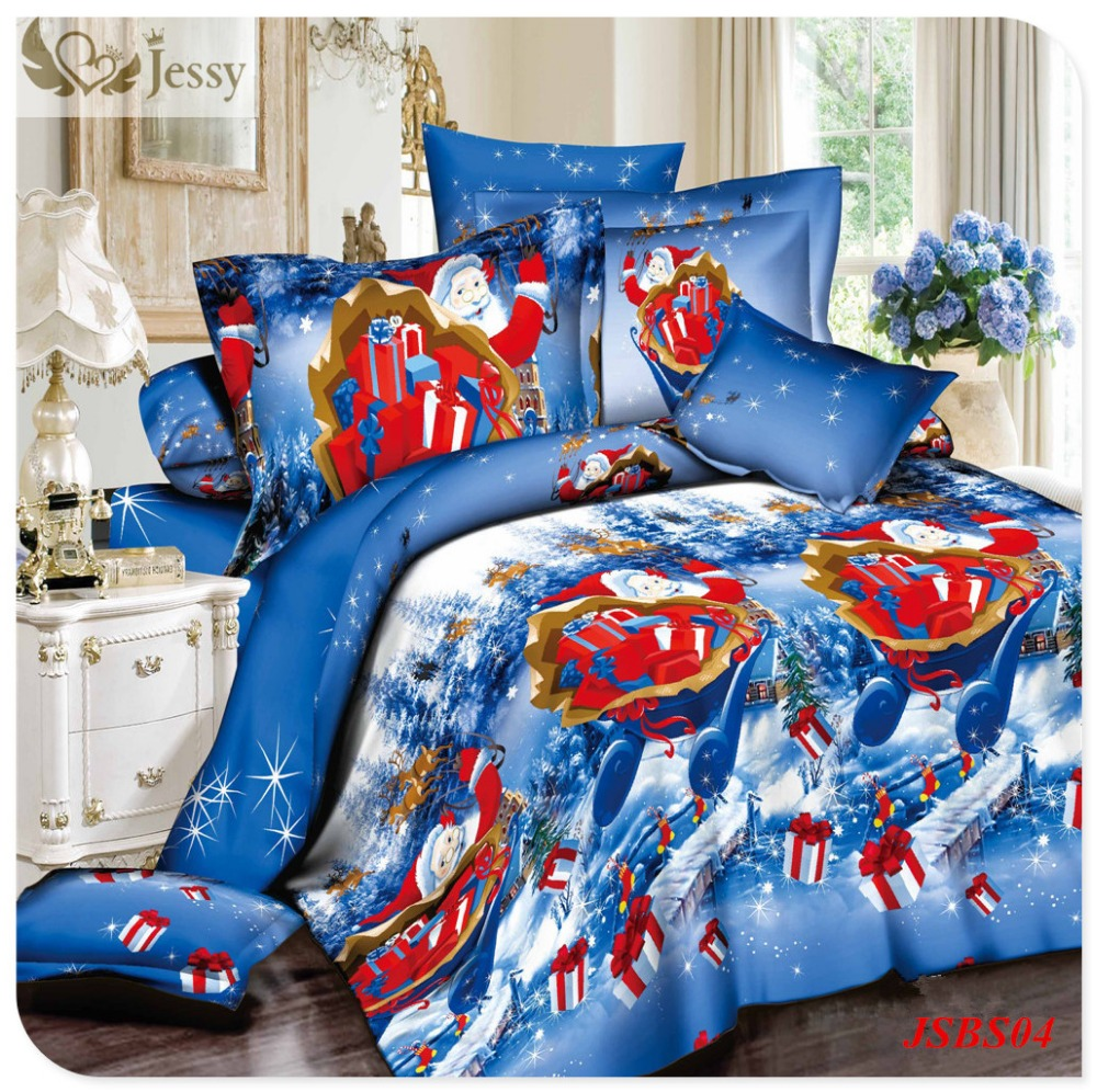 HOT! christmas bedding sets for adult bed linen with fitted sheet bed sheets kids christmas gift bedding set queen king size(China (Mainland))